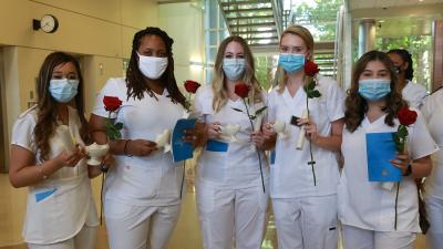 Wake Tech Holds In-Person Nursing Pinning Ceremony